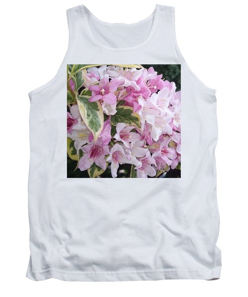 Pink Flowers Tank Top