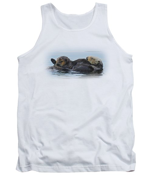 A Mama Sea Otter And Her Babe Tank Top by Sandra O'Toole