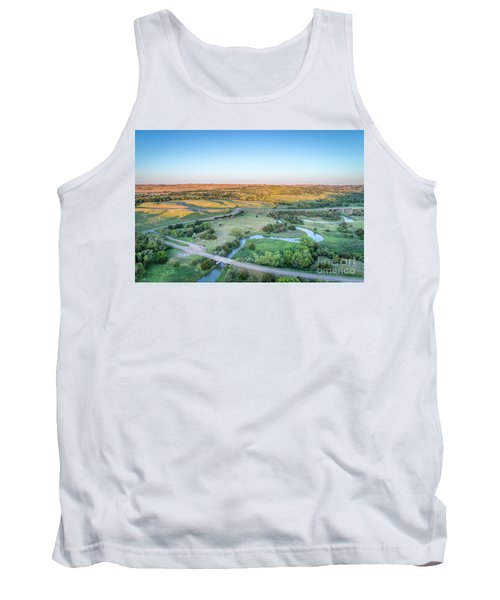 aerial view of Dismal River in Nebraska Tank Top