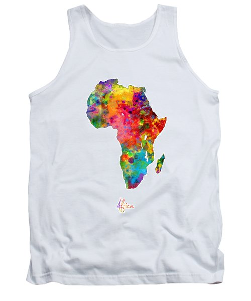 Africa Watercolor Map Tank Top