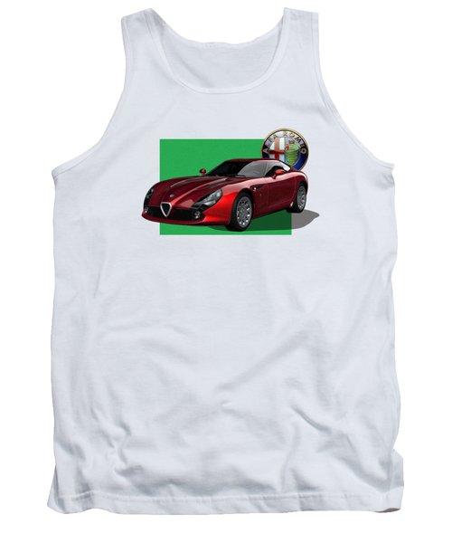 Alfa Romeo Zagato  T Z 3  Stradale With 3 D Badge  Tank Top