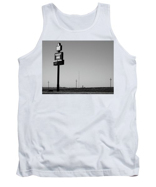 Tank Top featuring the photograph American Interstate - Kansas I-70 Bw 4 by Frank Romeo