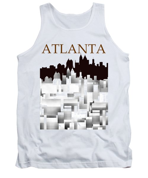 Tank Top featuring the digital art Atlanta 1 by Alberto RuiZ