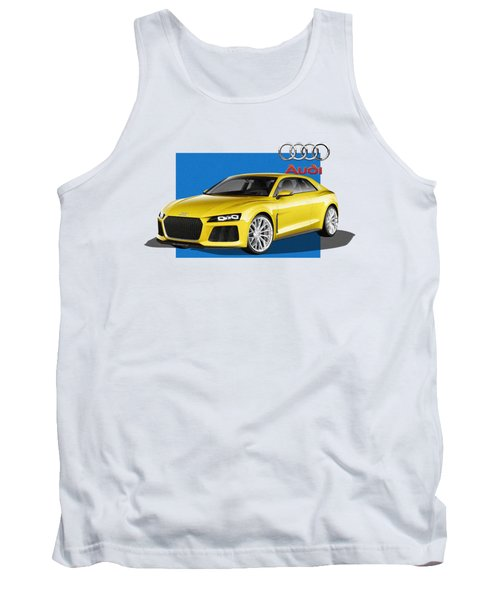 Audi Sport Quattro Concept With 3 D Badge  Tank Top by Serge Averbukh