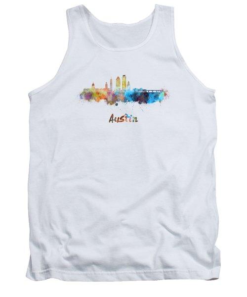 Austin Skyline In Watercolor Tank Top