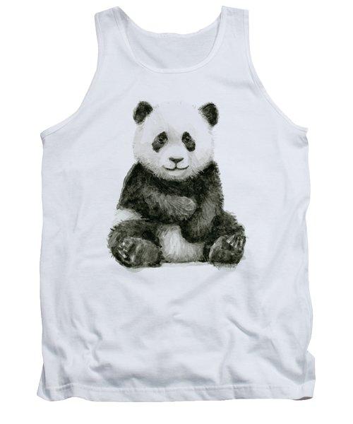 Baby Panda Watercolor Tank Top