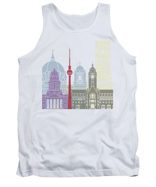 Berlin Skyline Poster Tank Top by Pablo Romero