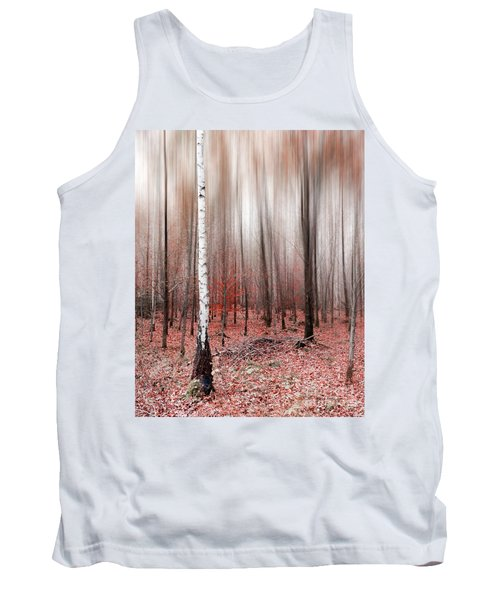 Tank Top featuring the photograph Birchforest In Fall by Hannes Cmarits
