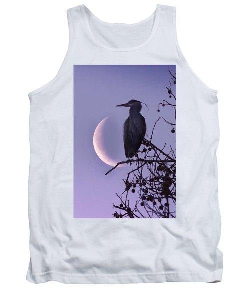 Blue Heron Moon Tank Top