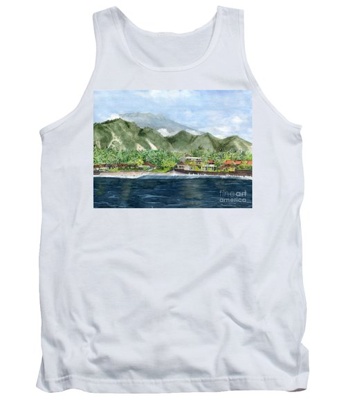 Tank Top featuring the painting Blue Lagoon Bali Indonesia by Melly Terpening