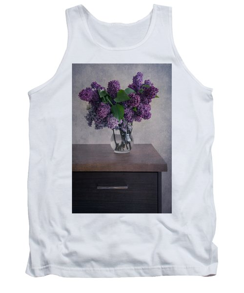 Tank Top featuring the photograph Bouquet Of Fresh Lilacs by Jaroslaw Blaminsky