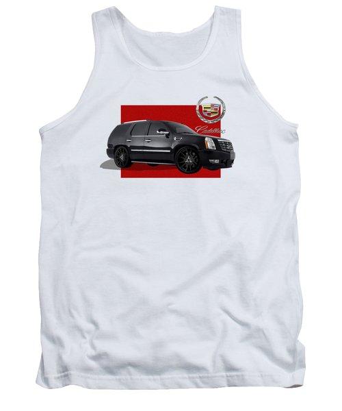 Cadillac Escalade With 3 D Badge  Tank Top