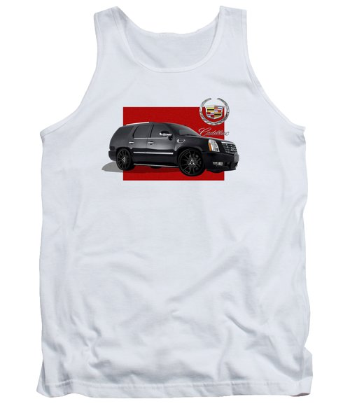 Cadillac Escalade With 3 D Badge  Tank Top