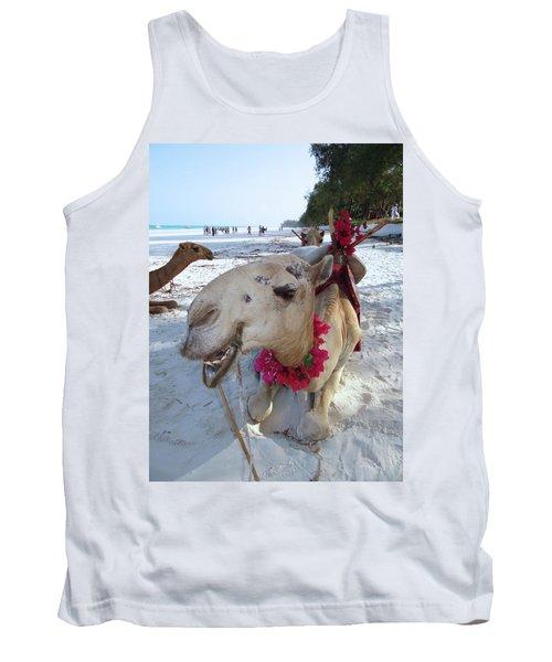 Camel On Beach Kenya Wedding3 Tank Top