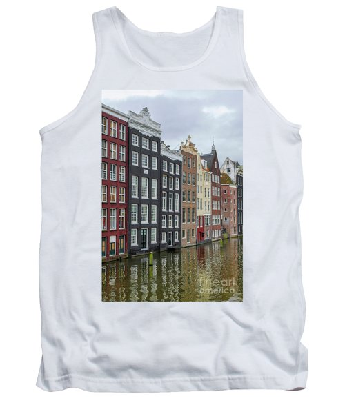 Canal Houses In Amsterdam Tank Top by Patricia Hofmeester