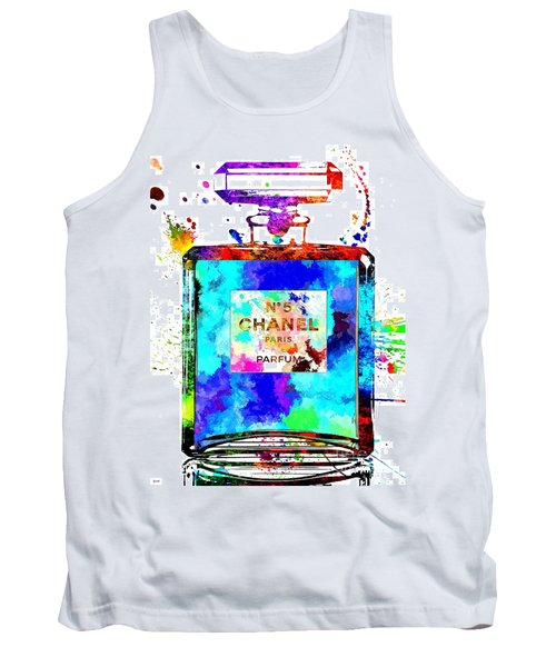Chanel No. 5 Grunge Tank Top by Daniel Janda