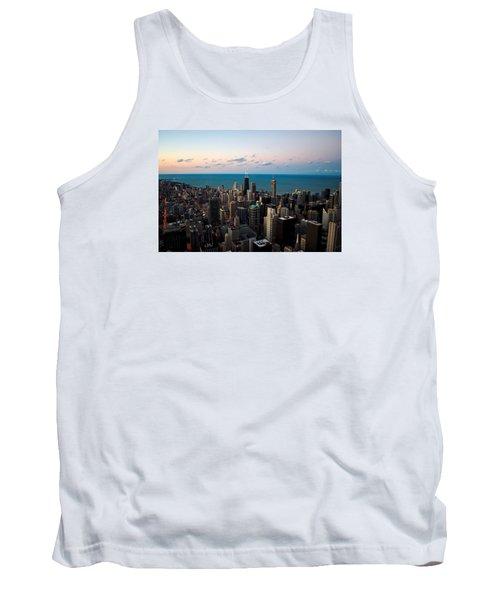 Chicago Skyline 2 Tank Top by Richard Zentner