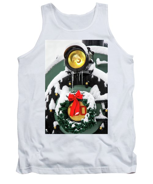 Christmas Train At Pacific Junction Tank Top