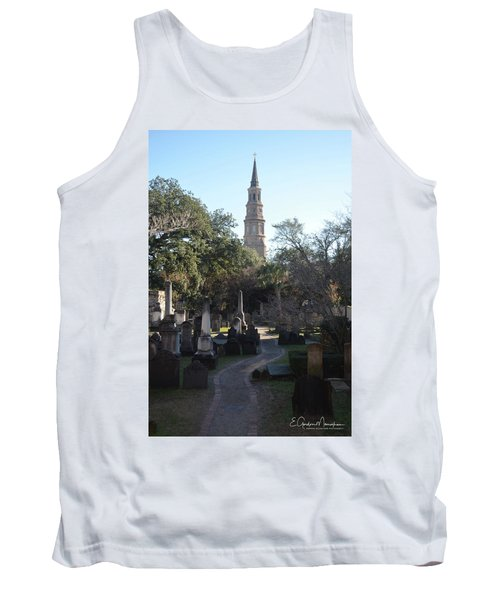 Circular Congregational Graveyard 3 Tank Top by Gordon Mooneyhan