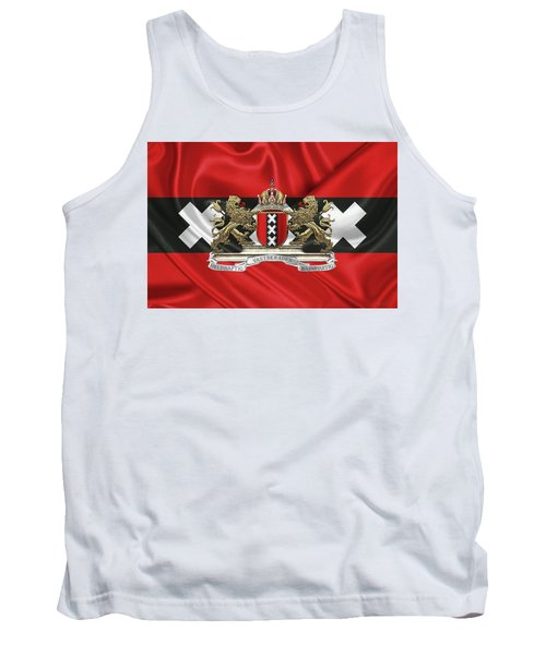 Coat Of Arms Of Amsterdam Over Flag Of Amsterdam Tank Top