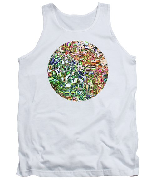 Colorful Shapes Pattern Tank Top