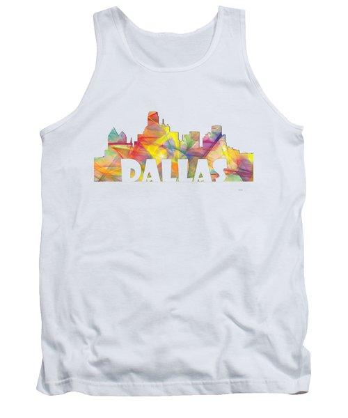 Dallas Texas Skyline Tank Top by Marlene Watson