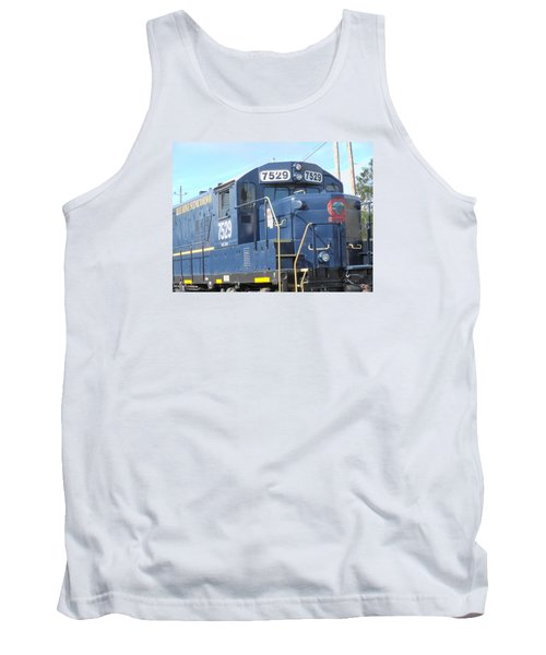 Diesel Engline Train Tank Top by Linda Geiger