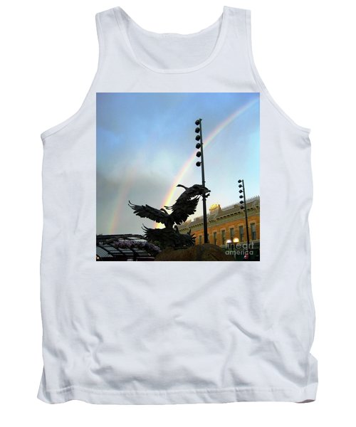 Double Rainbow Over Old Town Square Tank Top