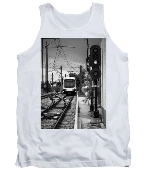 Electric Commuter Train In Bw Tank Top