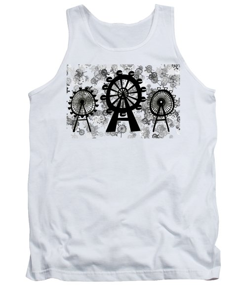 Ferris Wheel - London Eye Tank Top by Michal Boubin