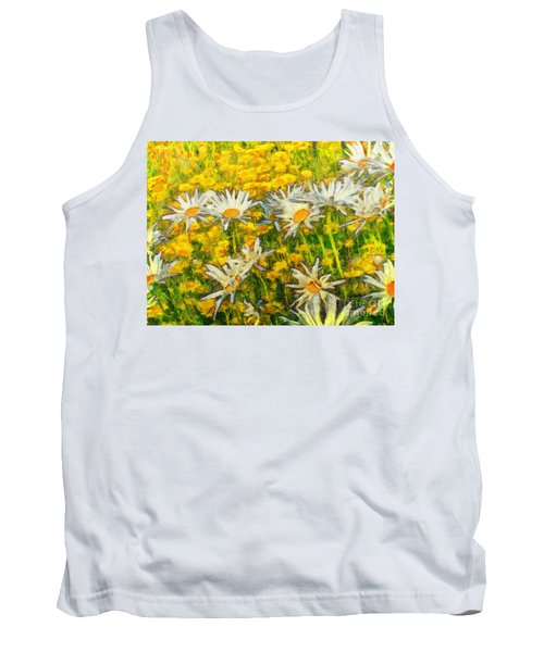 Field Of Daisies Tank Top