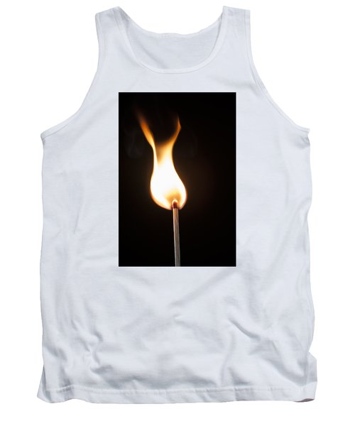 Tank Top featuring the photograph Flame by Tyson and Kathy Smith