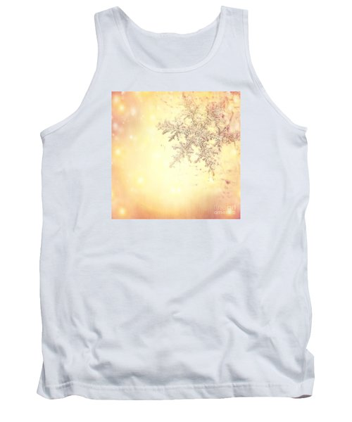 Golden Christmas Background Tank Top