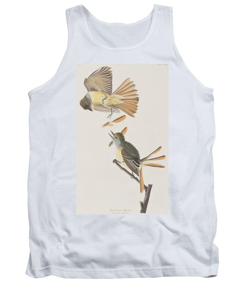 Great Crested Flycatcher Tank Top by John James Audubon