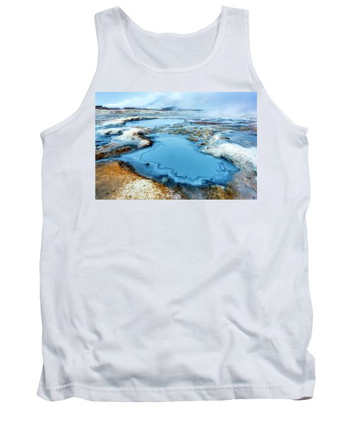Hverir Steam Vents In Iceland Tank Top