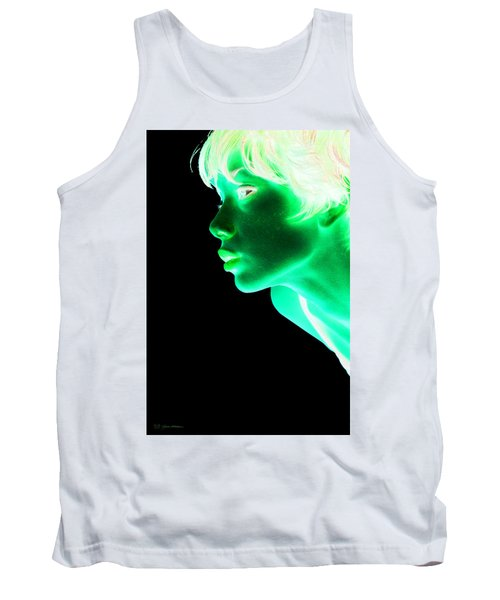 Inverted Realities - Green  Tank Top