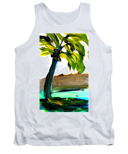 Tank Top featuring the painting Island Time by Fred Wilson