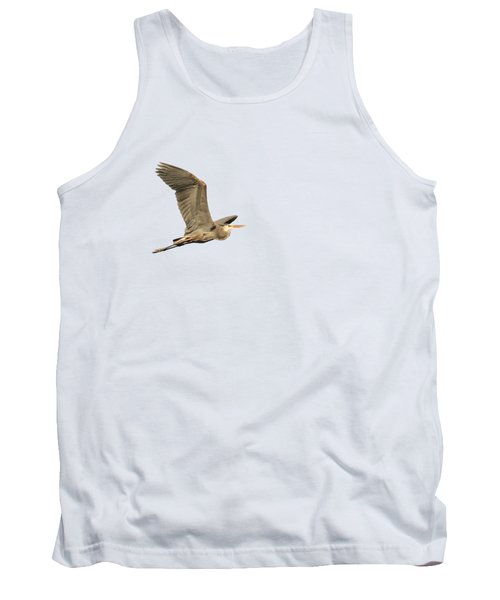 Tank Top featuring the photograph Isolated Great Blue Heron 2015-5 by Thomas Young