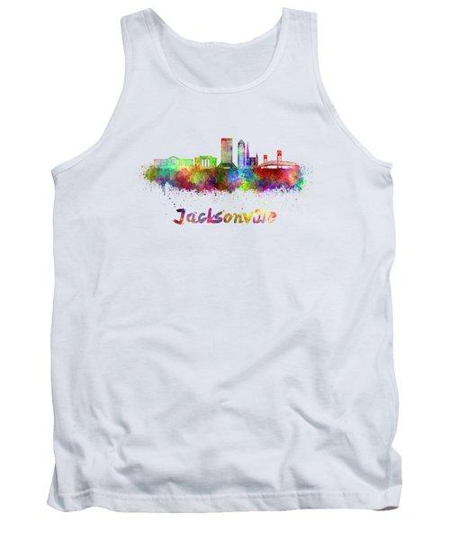 Jacksonville Skyline In Watercolor Tank Top