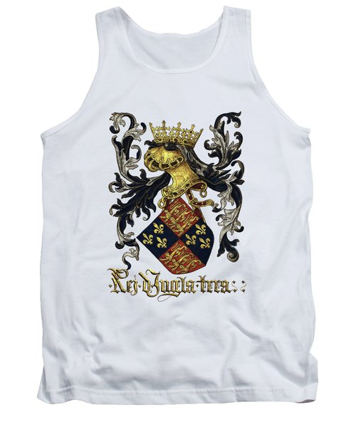 King Of England Coat Of Arms - Livro Do Armeiro-mor Tank Top by Serge Averbukh