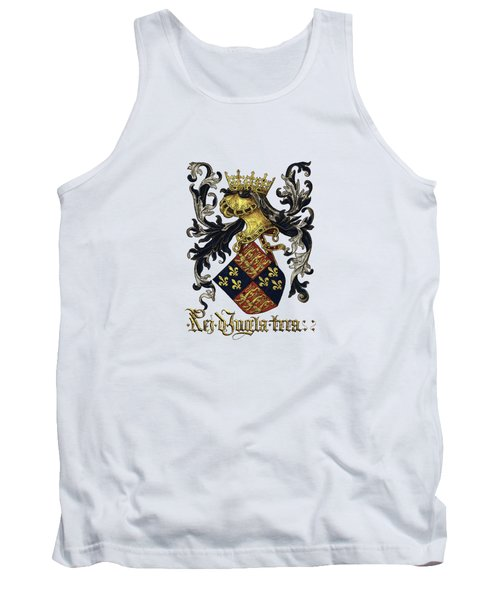 King Of England Coat Of Arms - Livro Do Armeiro-mor Tank Top