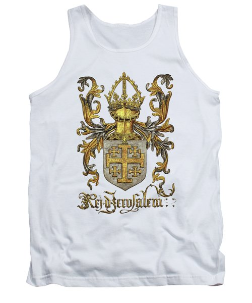 Kingdom Of Jerusalem Coat Of Arms - Livro Do Armeiro-mor Tank Top by Serge Averbukh