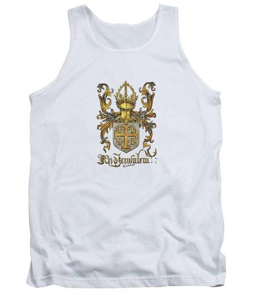Kingdom Of Jerusalem Coat Of Arms - Livro Do Armeiro-mor Tank Top
