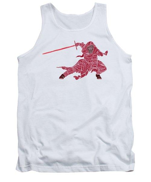 Kylo Ren - Star Wars Art - Red Tank Top