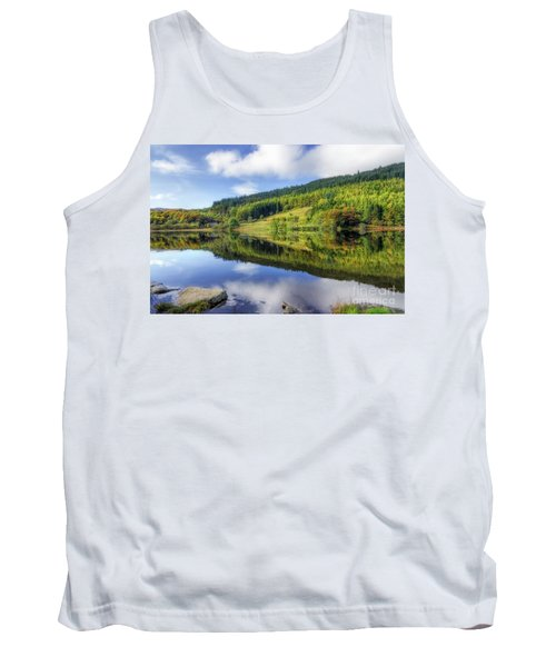 Lake Geirionydd Tank Top by Ian Mitchell