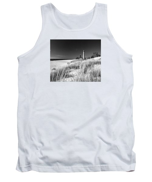 Tank Top featuring the photograph Little Sable Light Station - Film Scan by Larry Carr