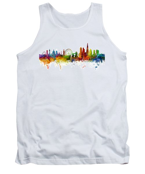 London England Skyline Panoramic Tank Top