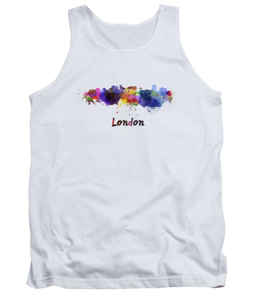 London Skyline In Watercolor Tank Top
