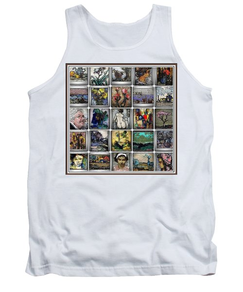 Tank Top featuring the mixed media Panorama Digital Graphics 1 by Pemaro