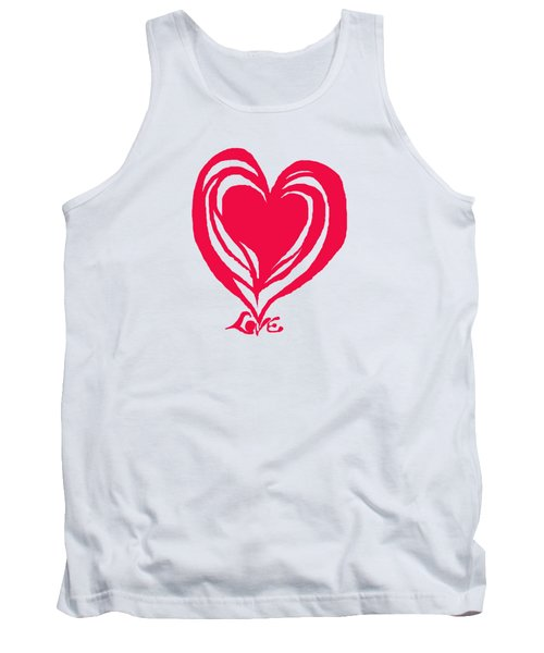 Love In Red Tank Top by Mary Armstrong